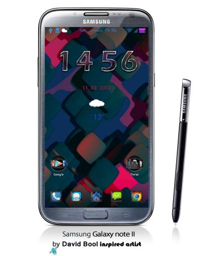 GALAXY-Note-II-wall 3D