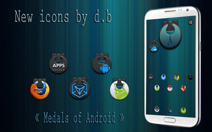 wall medals of android